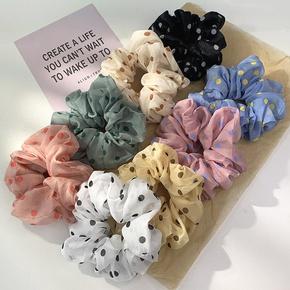 Nihaojewelry Korean style polka dots mesh hair scrunchies Wholesale jewelry NHOF375436