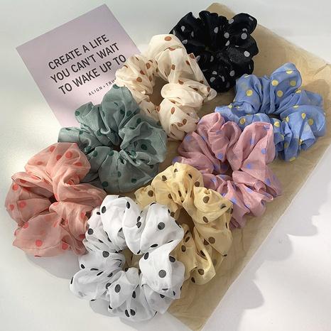 Nihaojewelry estilo coreano lunares malla coleteros para el cabello joyería al por mayor NHOF375436's discount tags