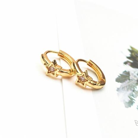 wholesale jewelry fashion star shape copper inlaid zircon earrings nihaojewelry NHPY375437's discount tags