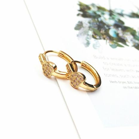 wholesale jewelry fashion key copper inlaid zircon earrings nihaojewelry NHPY375441's discount tags