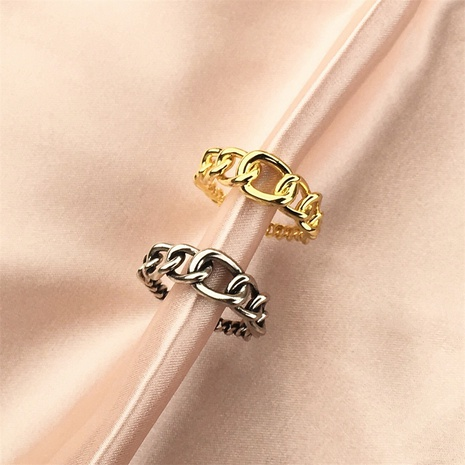 wholesale jewelry stitching hollow copper open ring Nihaojewelry NHPY375448's discount tags
