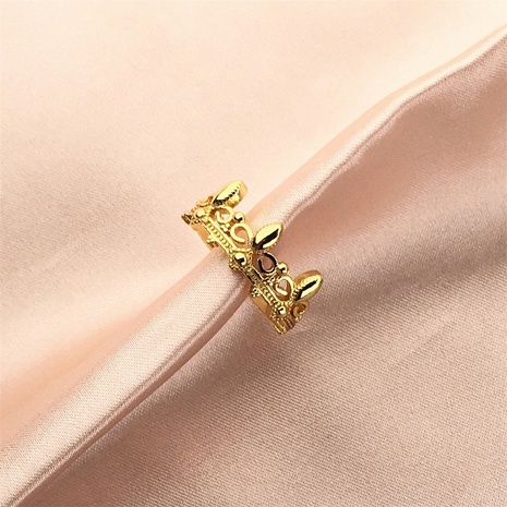 wholesale jewelry copper crown ring Nihaojewelry NHPY375457's discount tags