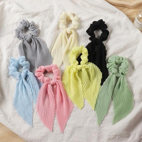 Nihaojewelry style coréen bowknot satin plis bandeau banderole bijoux en gros NHAU375492's discount tags