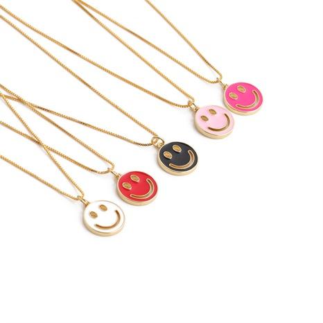 Nihaojewelry einfache Smiley-Gesichtshalskette Großhandel Schmuck NHYL375525's discount tags