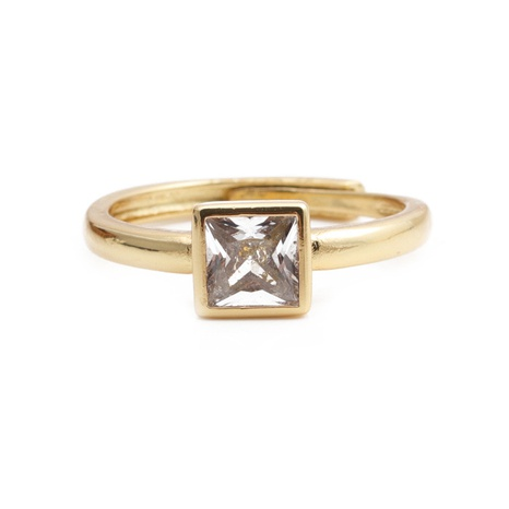 wholesale jewelry simple white crystal copper gold-plated ring nihaojewelry NHYL375532's discount tags