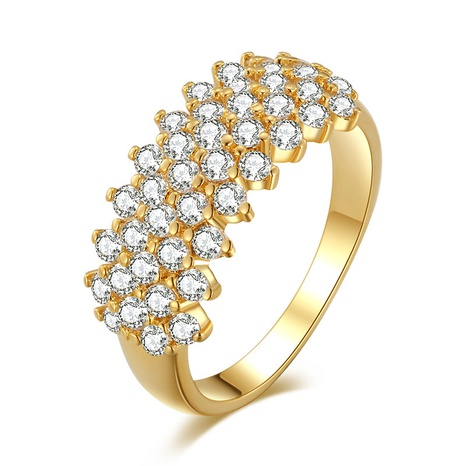 wholesale jewelry fashion inlaid zircon gypsophila copper ring Nihaojewelry NHMO375594's discount tags