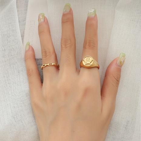 wholesale jewelry retro angel titanium steel ring Nihaojewelry NHOK375557's discount tags