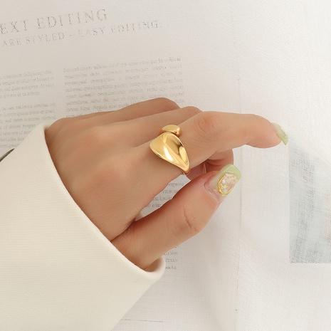 wholesale jewelry simple geometric dent titanium steel ring Nihaojewelry   NHOK375178's discount tags