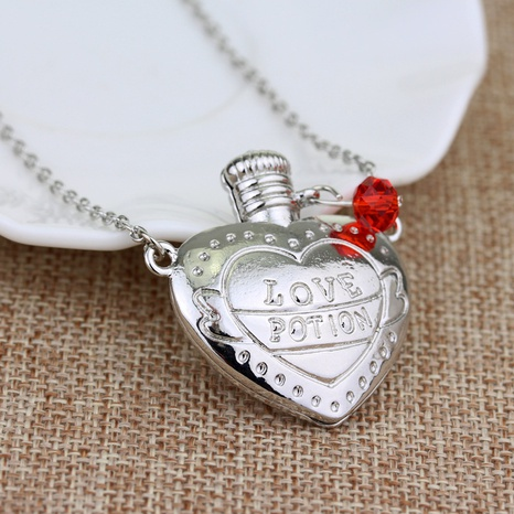 Wholesale Jewelry Valentine's Day Gift Love Potion Medicine Bottle Necklace Nihaojewelry NHQC375643's discount tags