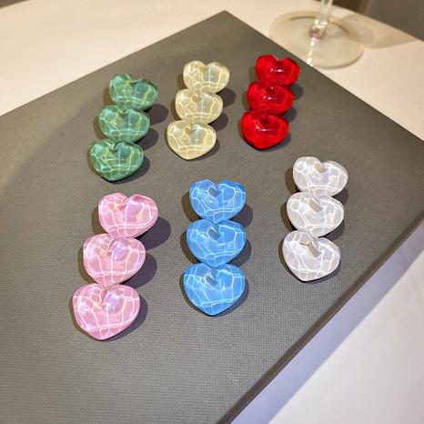 Wholesale heart-shaped Hair Clips Korean love duckbill clip Nihaojewelry NHQIY375649's discount tags
