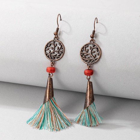 Nihaojewelry jewelry vintage hollow round tassel earrings wholesale  NHGY376091's discount tags