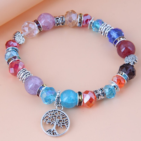 Nihaojewelry Jewelry Wholesale Tree of Life Pendant Metal Crystal Bracelet NHSC376084's discount tags