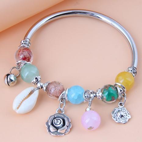 Nihaojewelry jewelry wholesale geometric pendant colorful bracelet  NHSC376083's discount tags