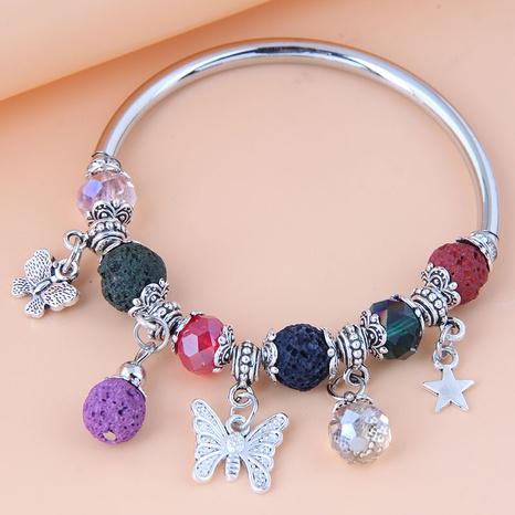 Nihaojewelry jewelry wholesale geometric metal pendant resin bracelet NHSC376082's discount tags