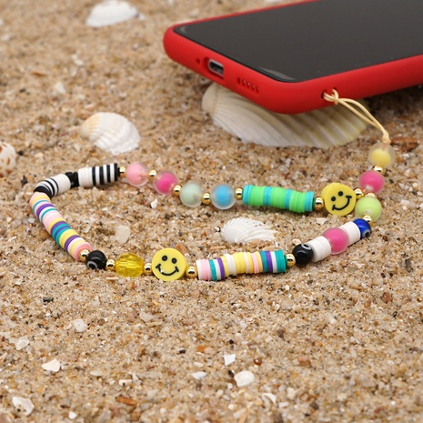 fashion bohemian smiley beads anti-lost mobile phone chain  NHYUZ360943's discount tags