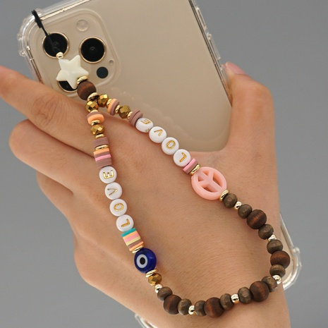 Simple bohemian beads mobile phone chain  NHYUZ360959's discount tags