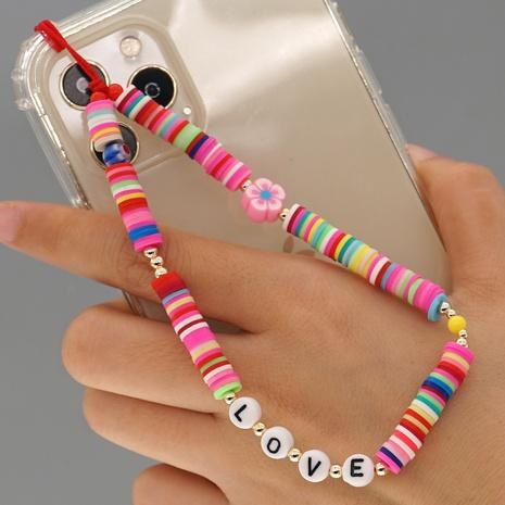 Simple bohemian colored soft ceramic mobile phone lanyard  NHYUZ360961's discount tags