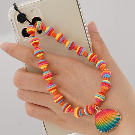 Simple bohemian rainbow shell mobile phone chain  NHYUZ360967's discount tags