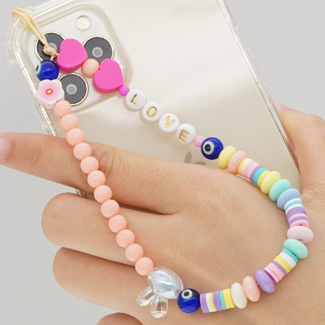 Simple Bohemian ethnic beads eyes mobile phone chain NHYUZ360973's discount tags