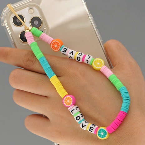 Simple bohemian color matching fruit mobile phone lanyard  NHYUZ360979's discount tags