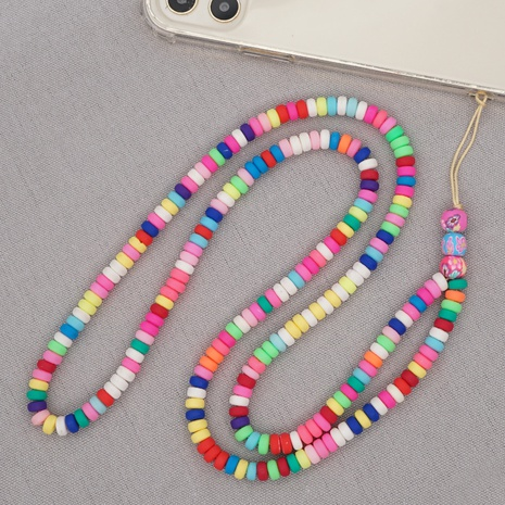 bohemian colored soft ceramic abacus beads mobile phone chain  NHYUZ360993's discount tags