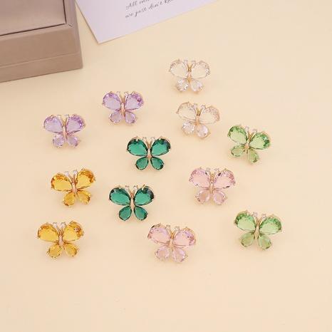 Boucles d'oreilles papillon multicolores de style coréen NHBW361000's discount tags