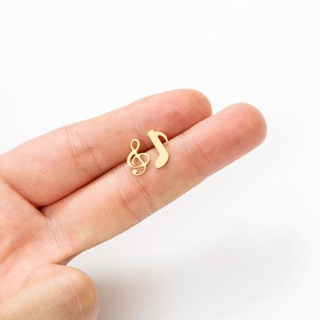 personnalité créative boucles d'oreilles en alliage note asymétrique en gros NHAKJ361067's discount tags