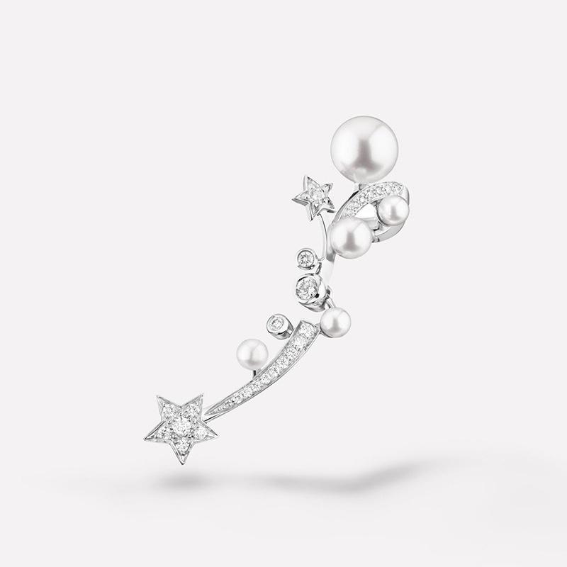 Korean fashion pearl fivepointed star diamond earrings  NHAYN361078