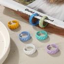 simple candy color spray diagonal stripes open ring  NHPJ361116