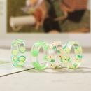 simple transparent fruit resin ring wholesale  NHPJ361119