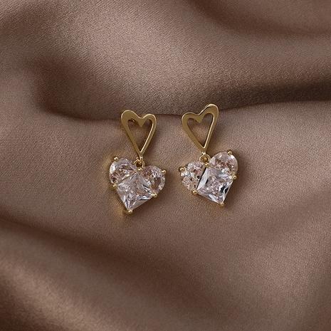 boucles d'oreilles en zircon d'amour de mode exquis NHMS361146's discount tags