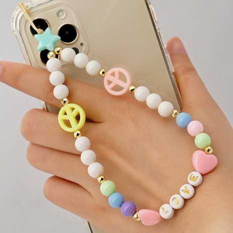 Simple bohemian LOVE letter love mobile phone chain  NHYUZ361184's discount tags