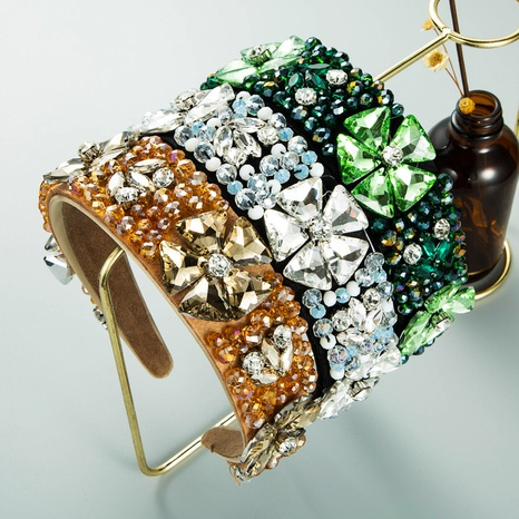 Mode Kristallglas Diamant Blumenstirnband NHLN361207's discount tags