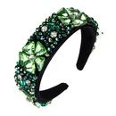 fashion crystal glass diamond flower headband NHLN361207