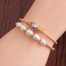 simple fashion purple 14K gold winding elastic bracelet NHYL361245
