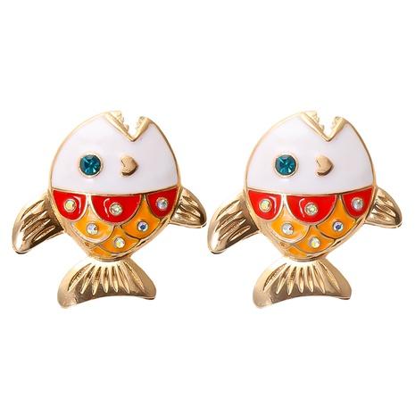 boucles d'oreilles époxy petits poissons rétro en gros NHJJ361249's discount tags