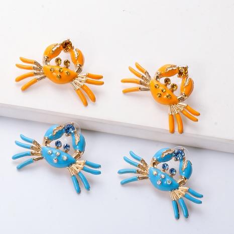 boucles d'oreilles en alliage de diamants de crabe dégoulinant d'huile rétro en gros NHJJ361250's discount tags