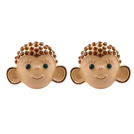 Boucles d'oreilles animales en époxy de singe rétro de mode en gros NHJJ361254's discount tags