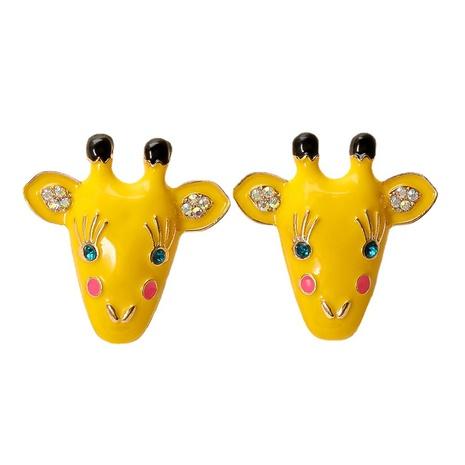 Boucles d'oreilles en époxy de girafe rétro à la mode en gros NHJJ361255's discount tags
