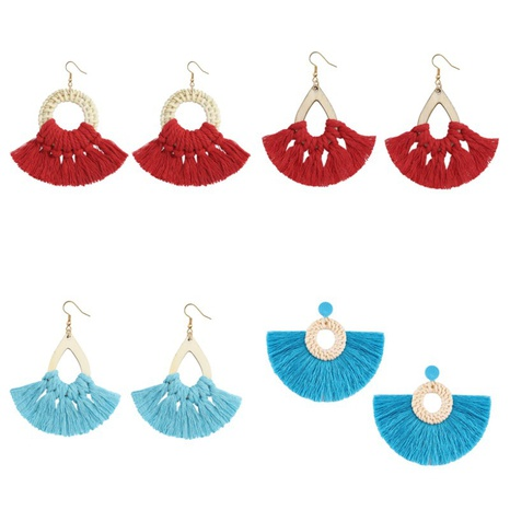 geometric retro ethnic style hand-woven earrings  NHJQ361288's discount tags
