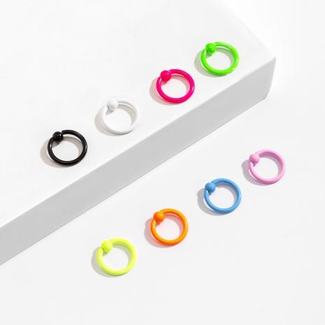 Ongles ronds de couleur bonbon géométrique punk NHXR361369's discount tags