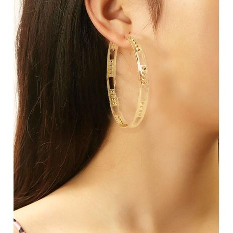 retro circle geometric hoop earrings NHCT361471's discount tags