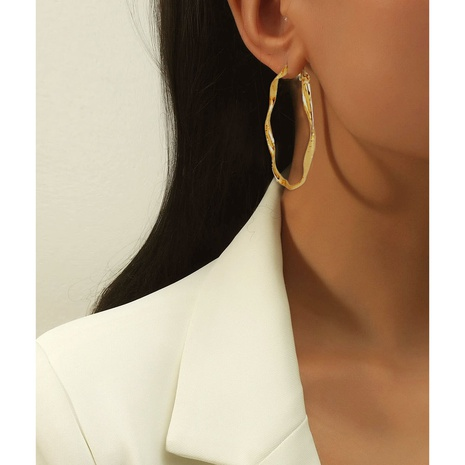 retro alloy geometric irregular earrings NHCT361487's discount tags