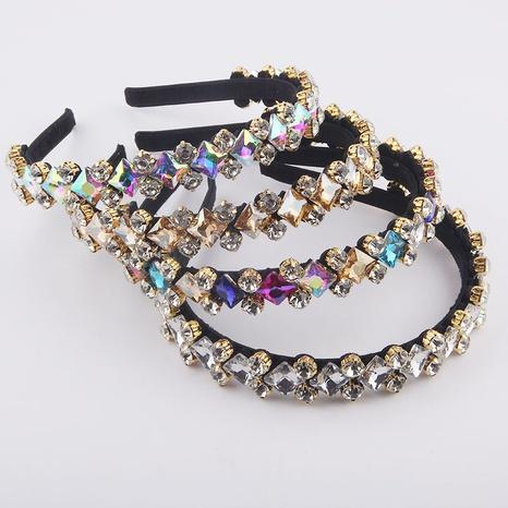 modisches diamantbesetztes geometrisches buntes Stirnband NHWJ361495's discount tags