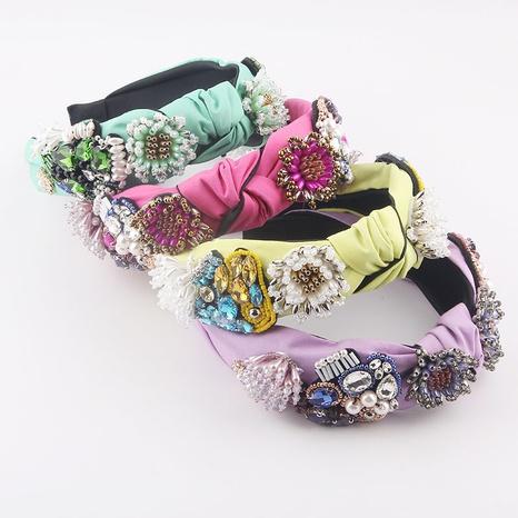 Stirnband mit barocker Kristalldiamantperle und Quaste NHWJ361496's discount tags