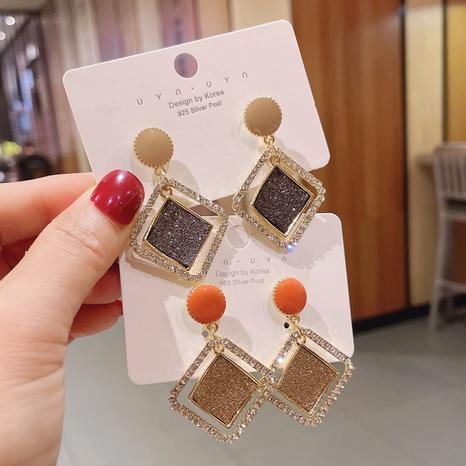 boucles d'oreilles en métal géométriques rondes multicouches simples irrégulières NHDQ361585's discount tags
