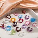 wholesale retro alloy spray color geometric ring  NHLL361686