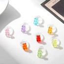 Korean macaron transparent colored bear ring wholesale  NHLL361702
