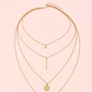 Simple multilayer heartshaped necklace NHLL361710