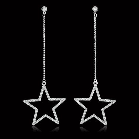 fashion full diamond heart-shaped long tassel earrings wholesale  NHDP360128's discount tags